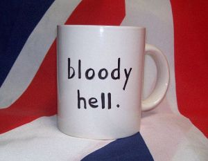 british bloody hell teacup british flag