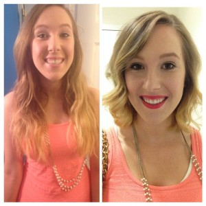 hair cut, hair cut short, lob, long bob, before and after hair